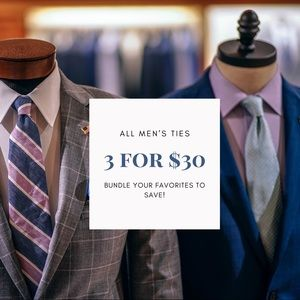 MEN'S TIES 3 FOR $30
